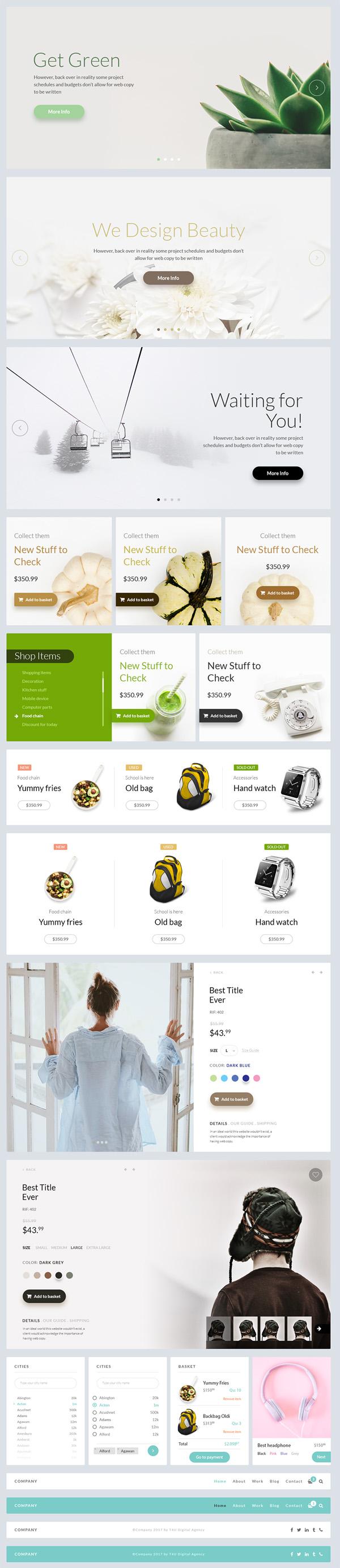 Free Web UI Kit PSD