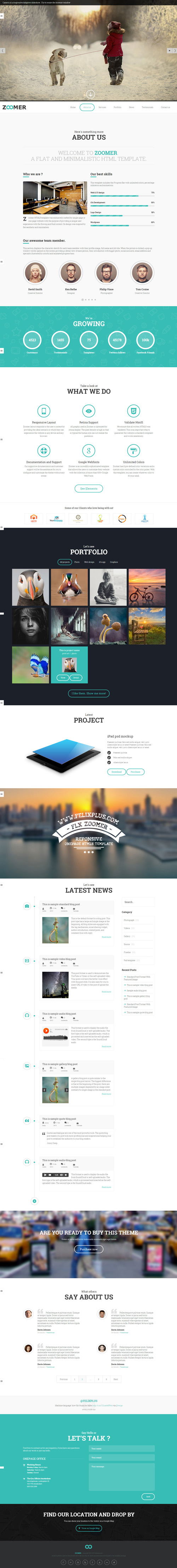 Zoomer - Onepage Responsive HTML5 Template