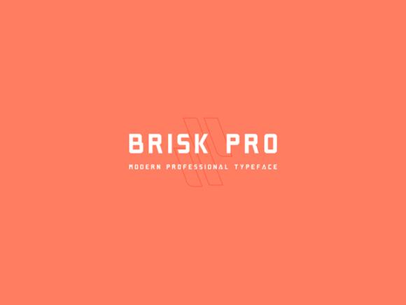 Brisk Pro: Free font