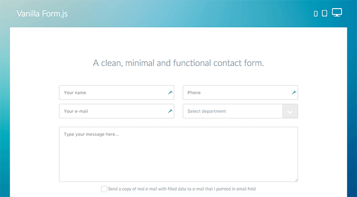 contact form guidelines vanilla form