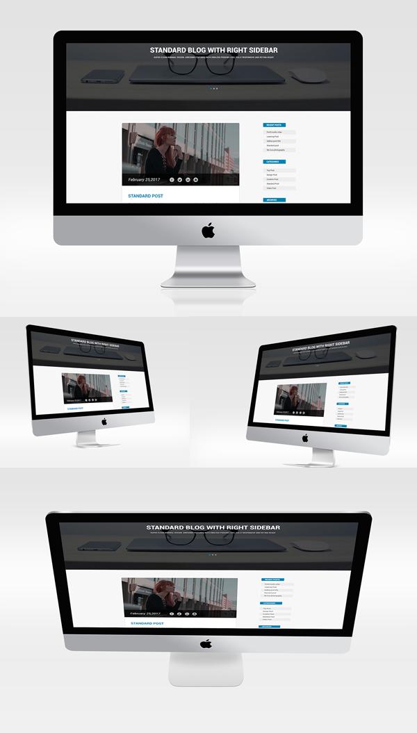 Multiview I Mac Mockups PSD Free