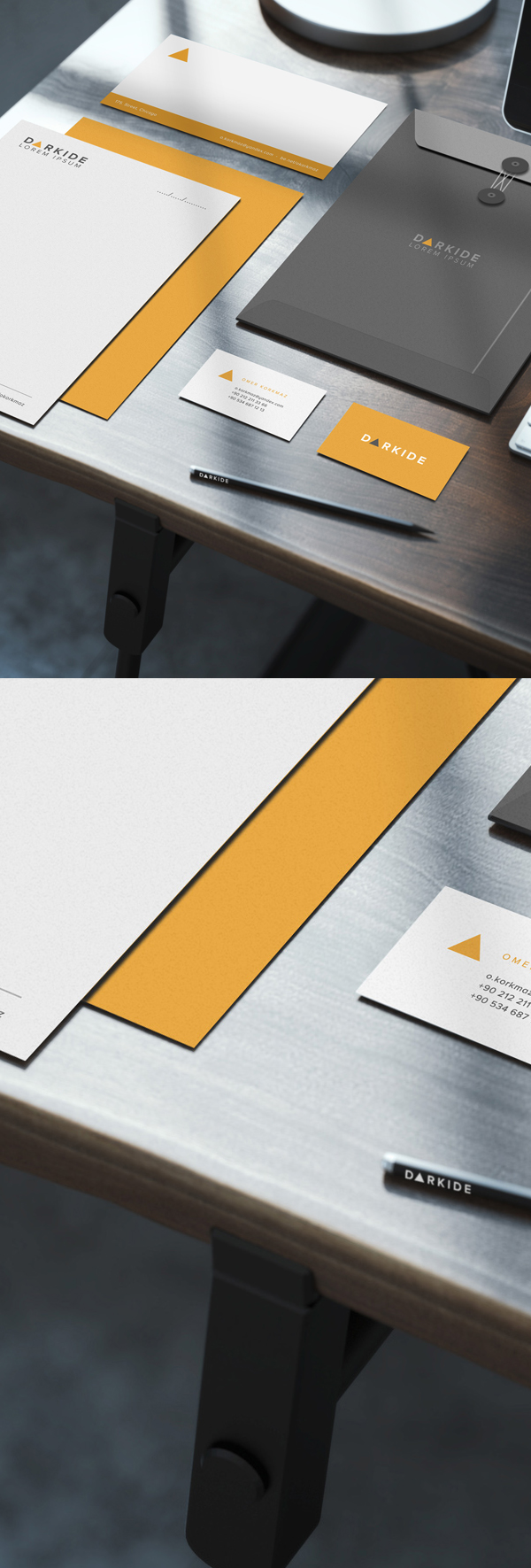 Free Realistic Corporate Identity Mockup