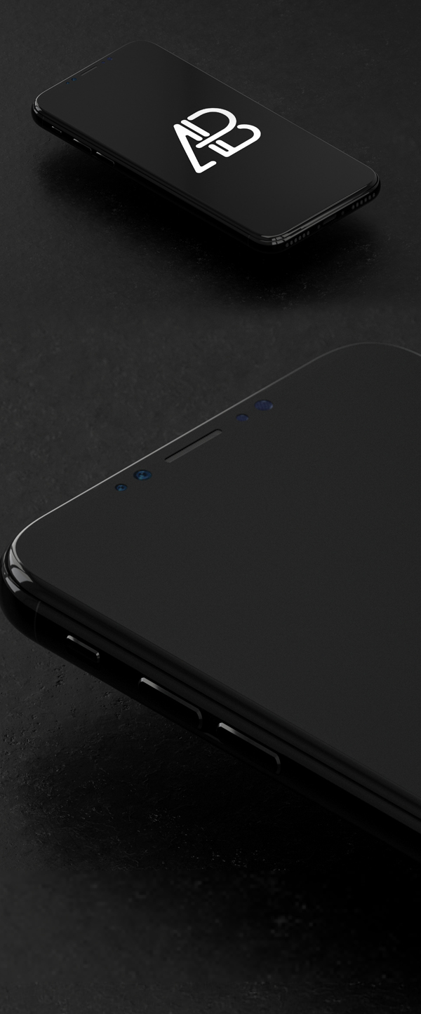 Free Isometric iPhone 8 Mockup
