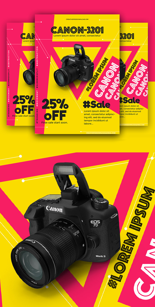 Free Product Sale PSD Flyer Mockup