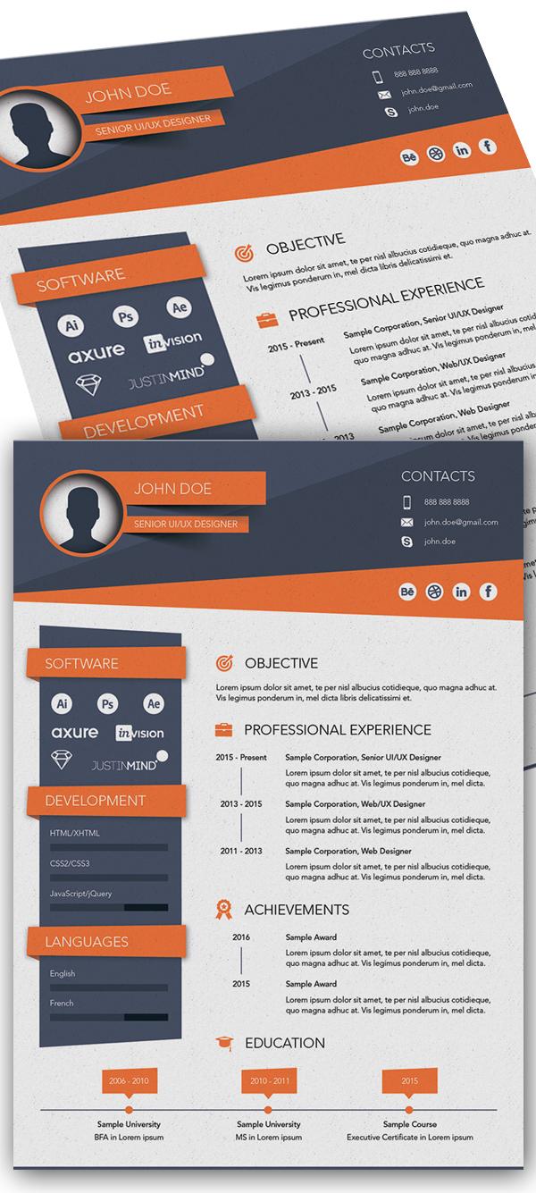 Free CV/Resume Template