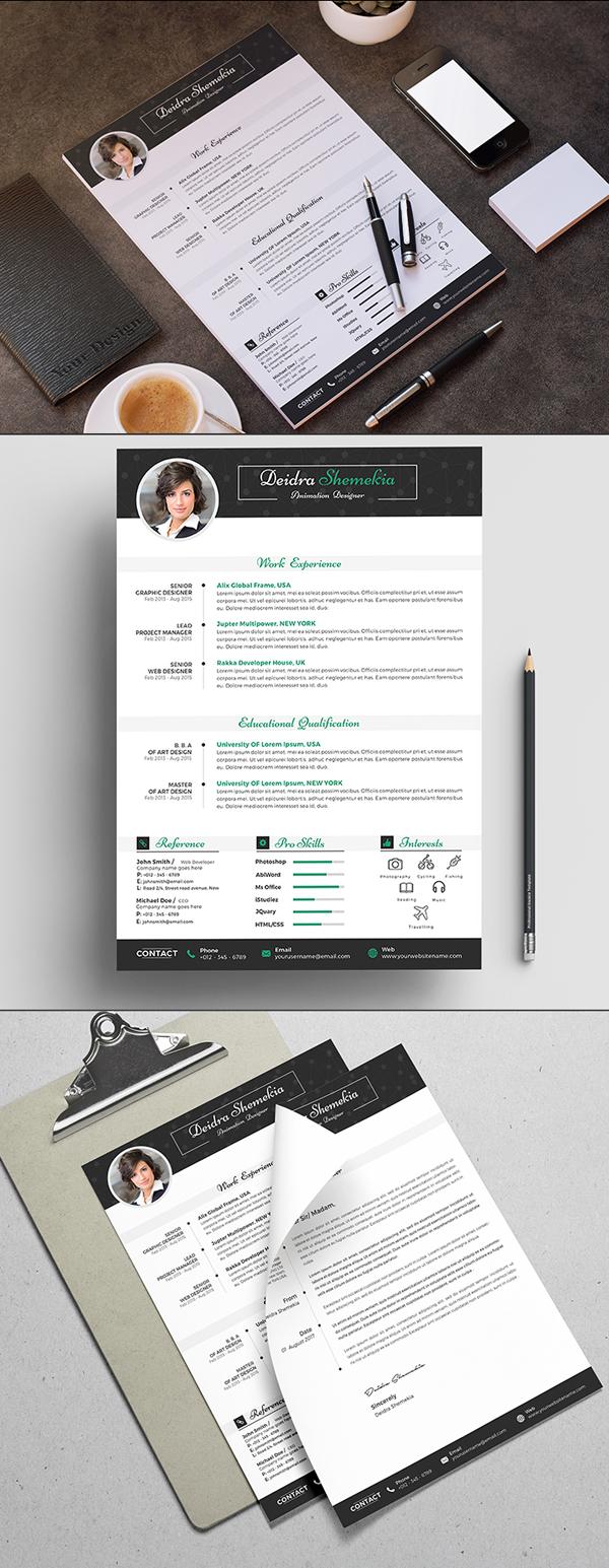 Free A4 Modern Resume/CV Template
