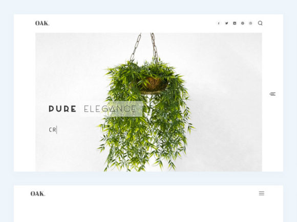 OAK HTML template - Preview image