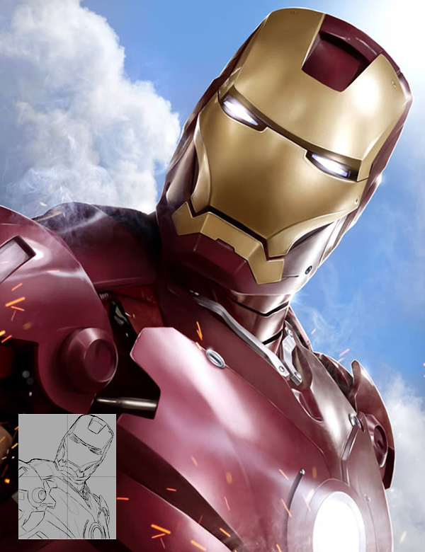 Create Stunning 'Iron Man' Fan Art From Scratch in Photoshop