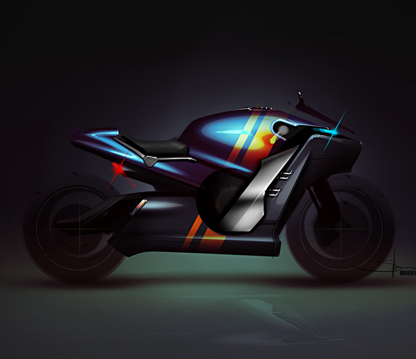 How to Design a Motobike Model Photoshop Sketching Tutorial