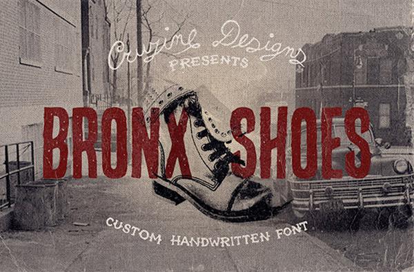 Bronx Shoes Custom Font