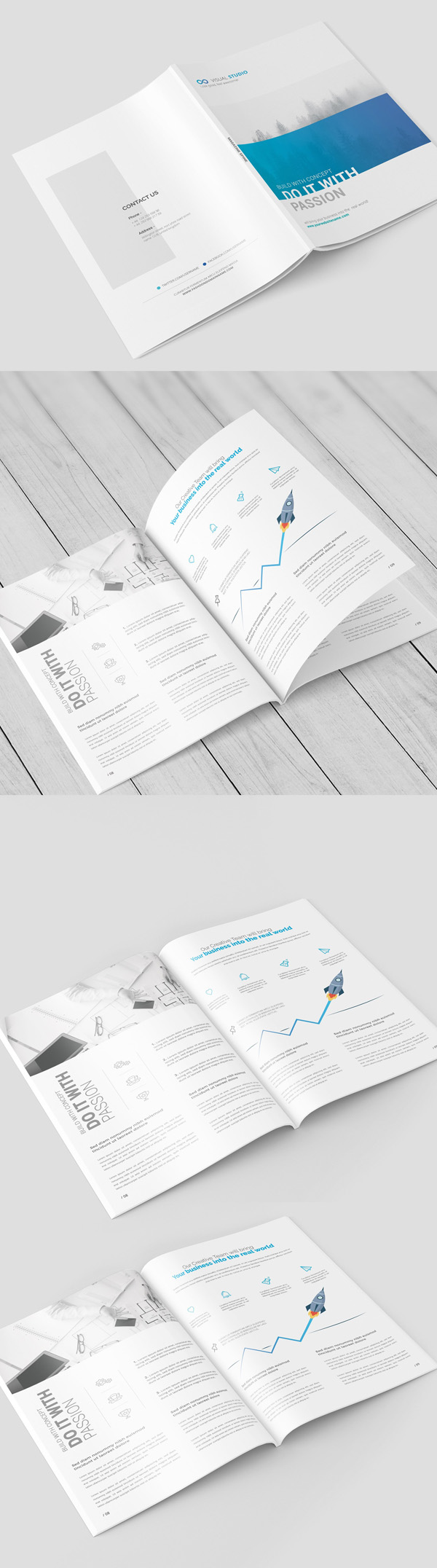 A4 Magazine / Brochure Mock-Up