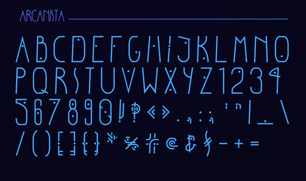 Arcanista Font Letters