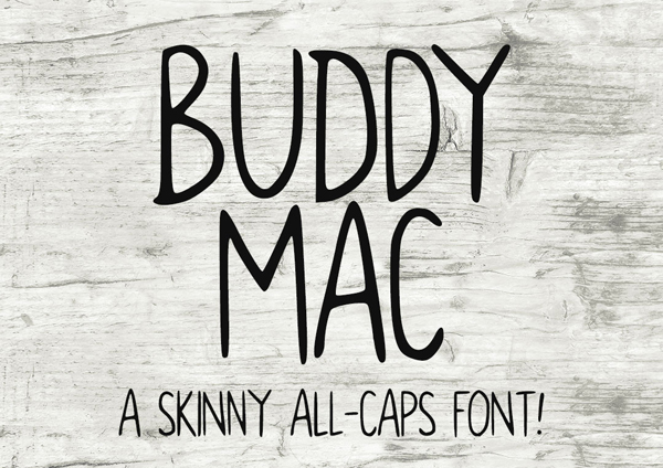 Buddy Mac Free Font