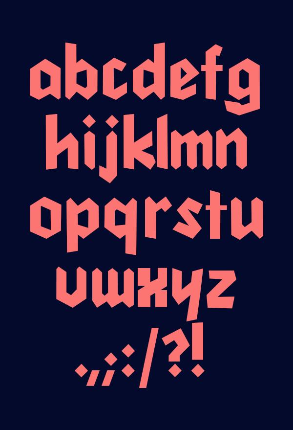 Cleankut Font Letters