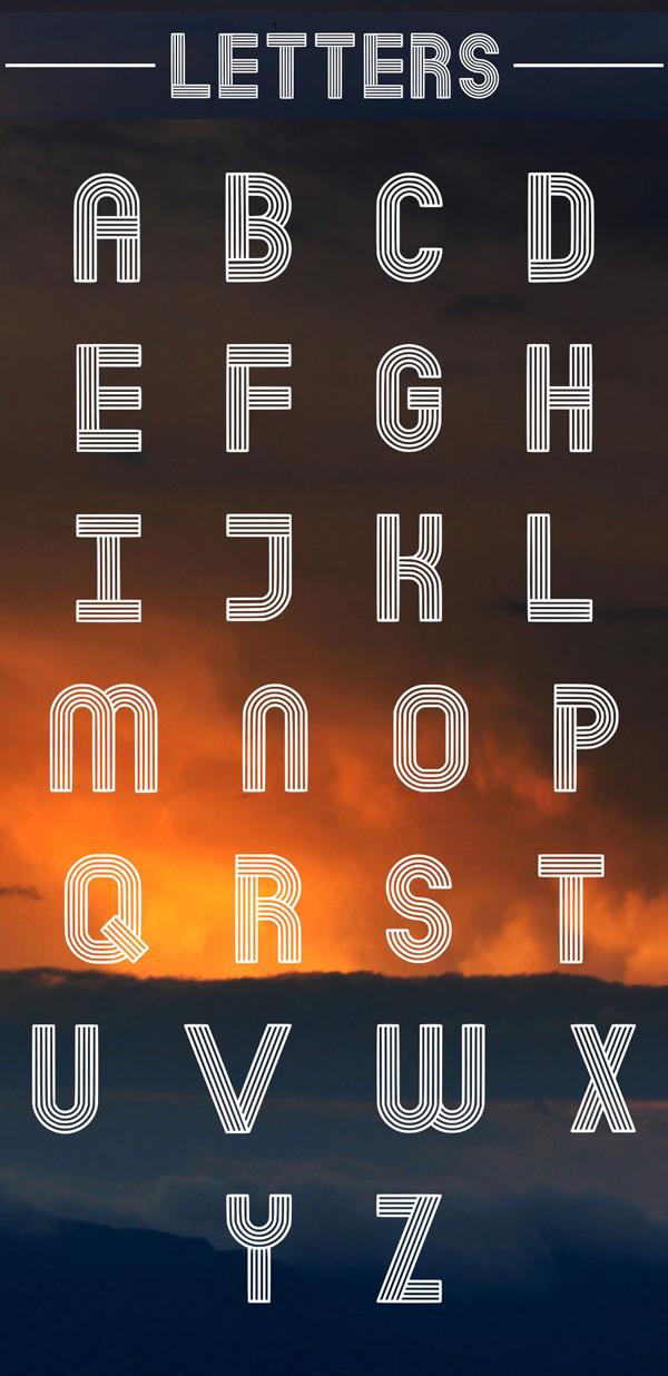Dubline Font Letters