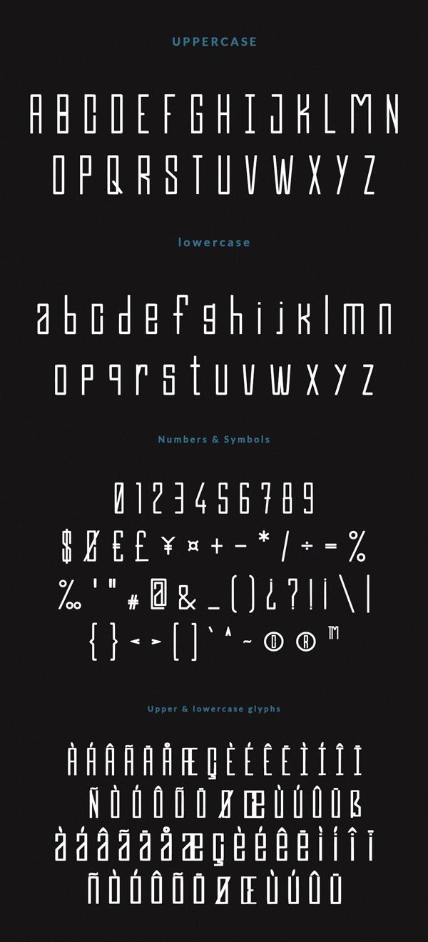 Efesto Font Letters