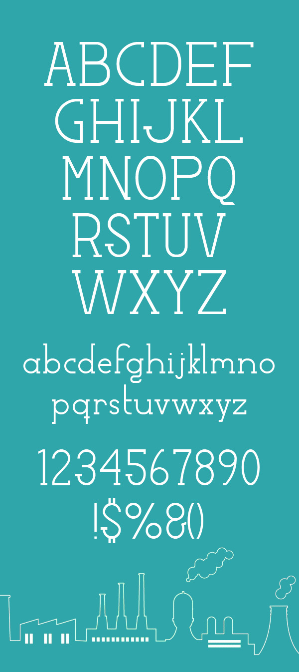Factory LJDS Free Font Letters