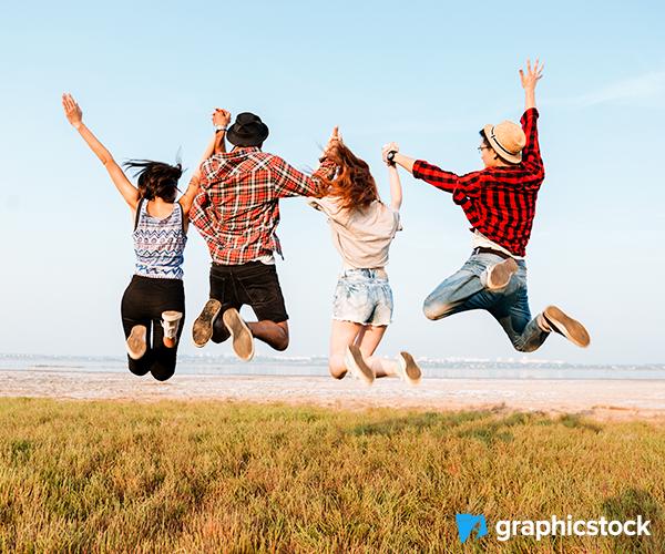 Group Jumping Photo