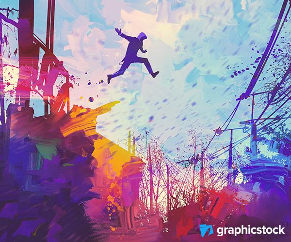 Colorful Jump Photo