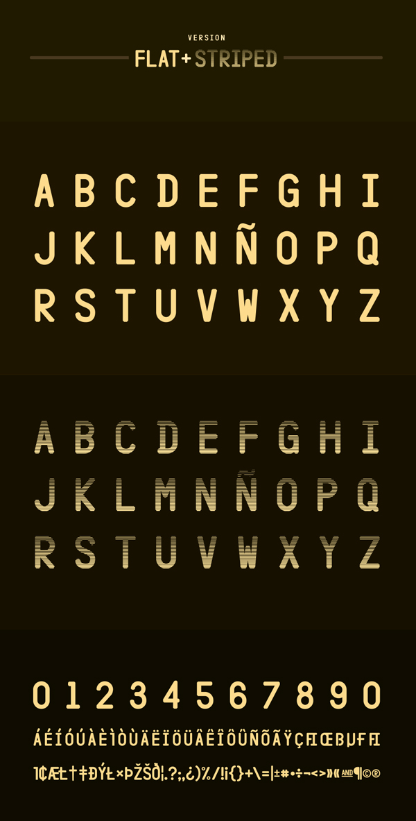 Hangar Font Letters
