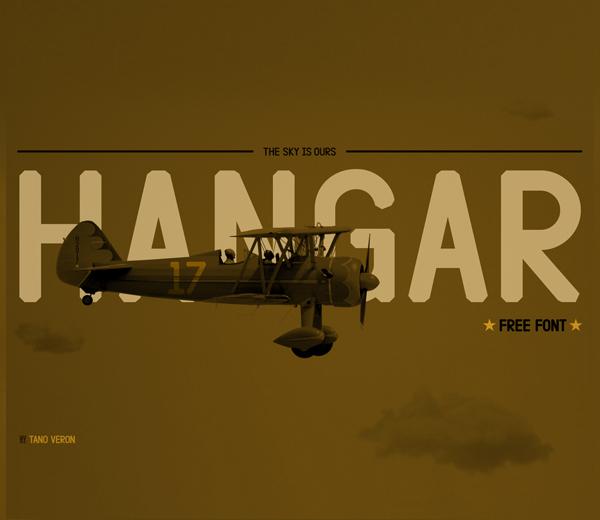 Hangar Free Font