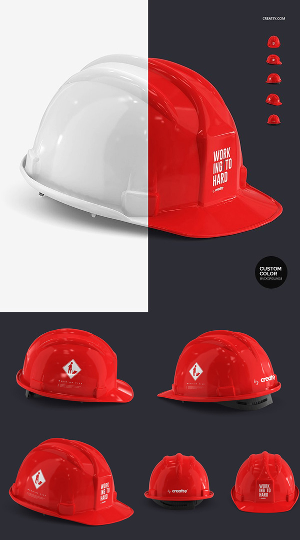 Hard Hat Mockup Set