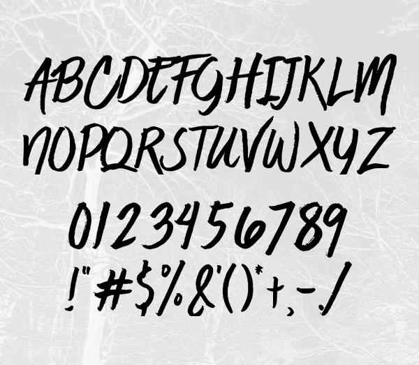 Jaime Blues Font Letters