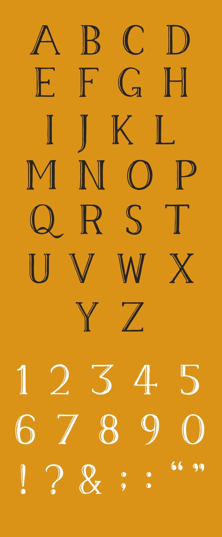 Memory Font Letters