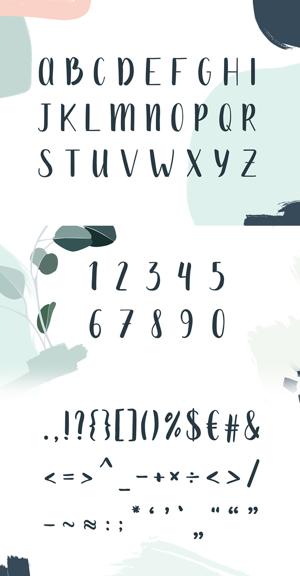 Mona Handdrawn Font Letters