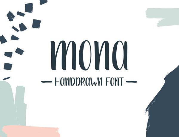 Mona Handdrawn Free Font
