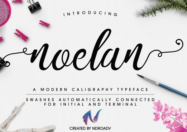 Noelan Script Free Font