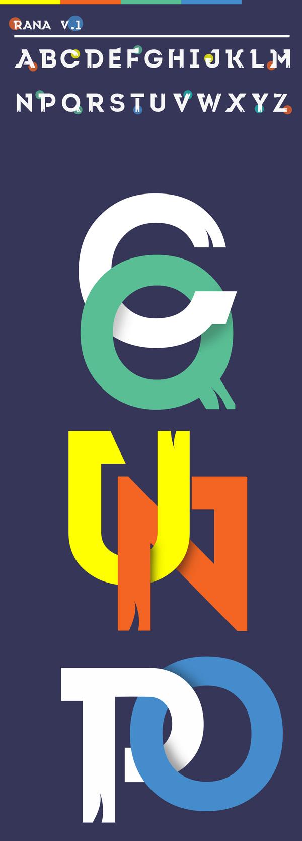 Rana Free Font Letters