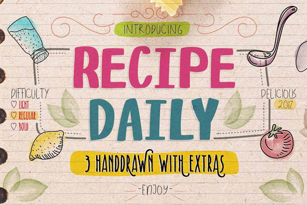 Recipe Daily Free Font