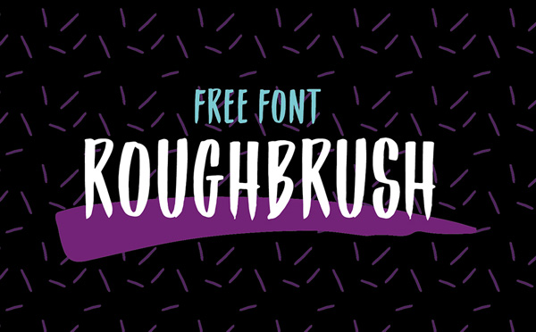 Roughbrush Free Font Download