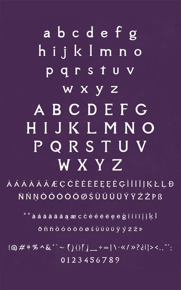 Sovngarde Free Font Letters