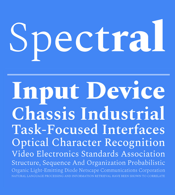 Spectral Free Font Download
