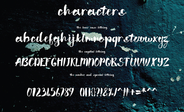 Wish Font Letters