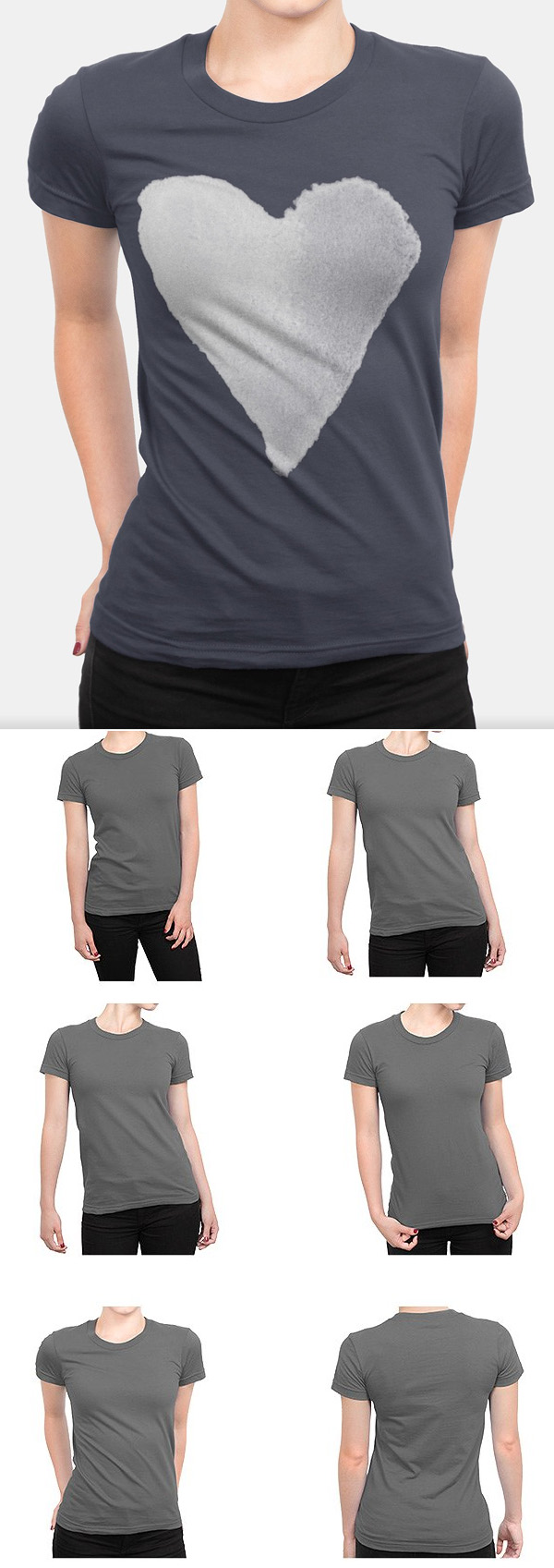Women's T-Shirt Apparel Mockups
