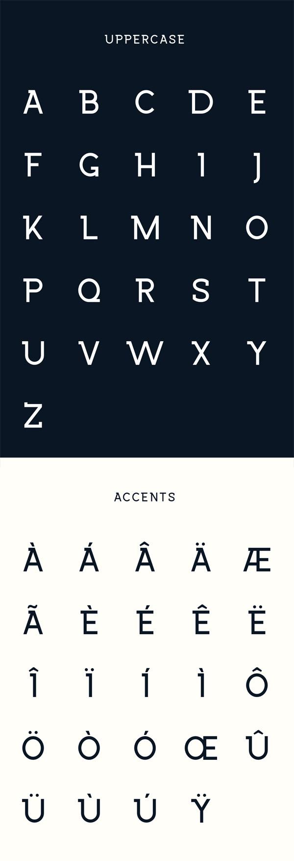 Wrangell Free Font Letters
