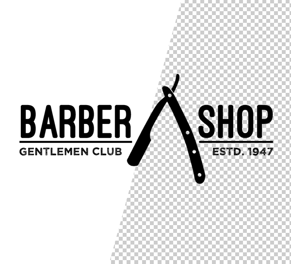 Barber Shop Logo Template - 3