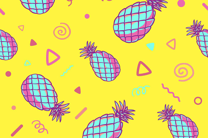 summer website themes pineapple background