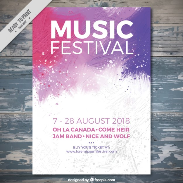 summer website themes music poster