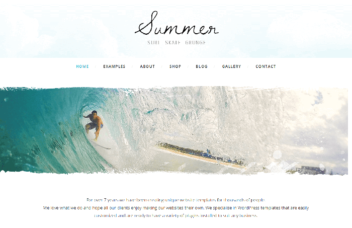 summer website template