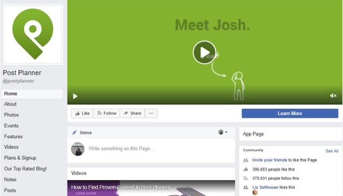 facebook page designs