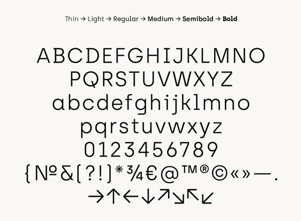 Archia Font Letters