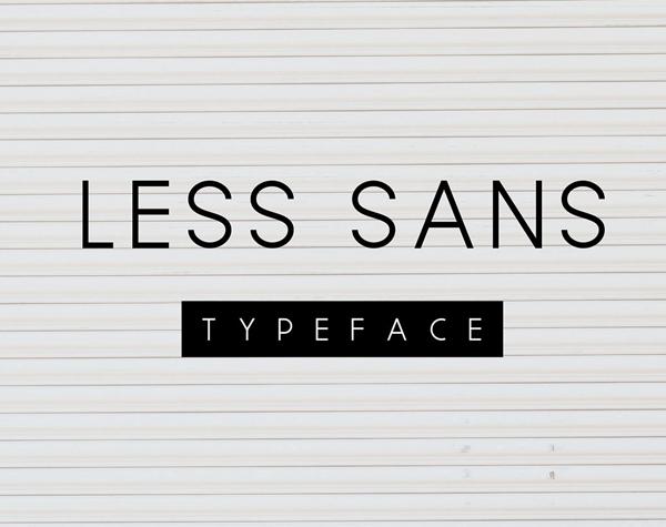 Less Sans Minimal Free Font