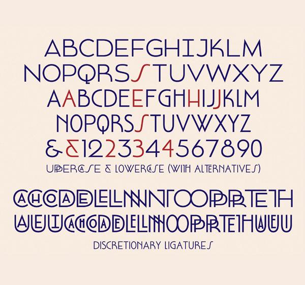 Mouron Font Letters