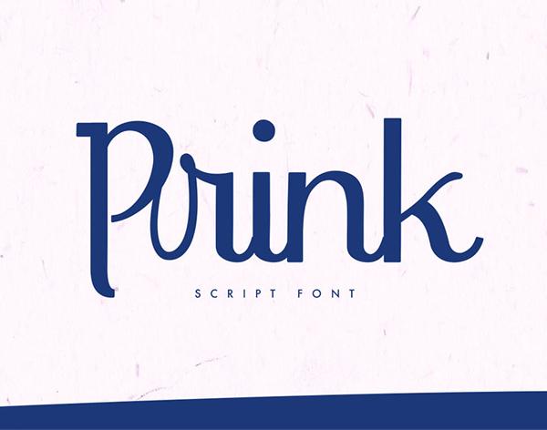 Prink Script Free Font