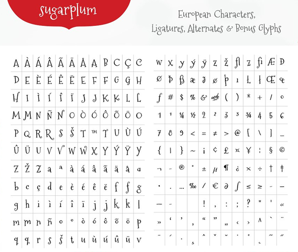 Sugarplum Font Letters
