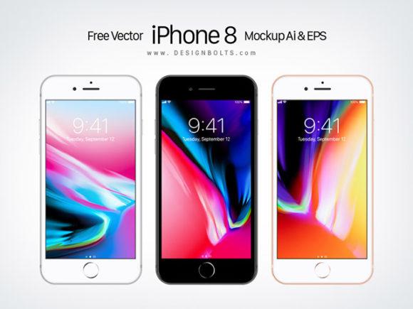 Apple iPhone 8 Mockup Ai & EPS